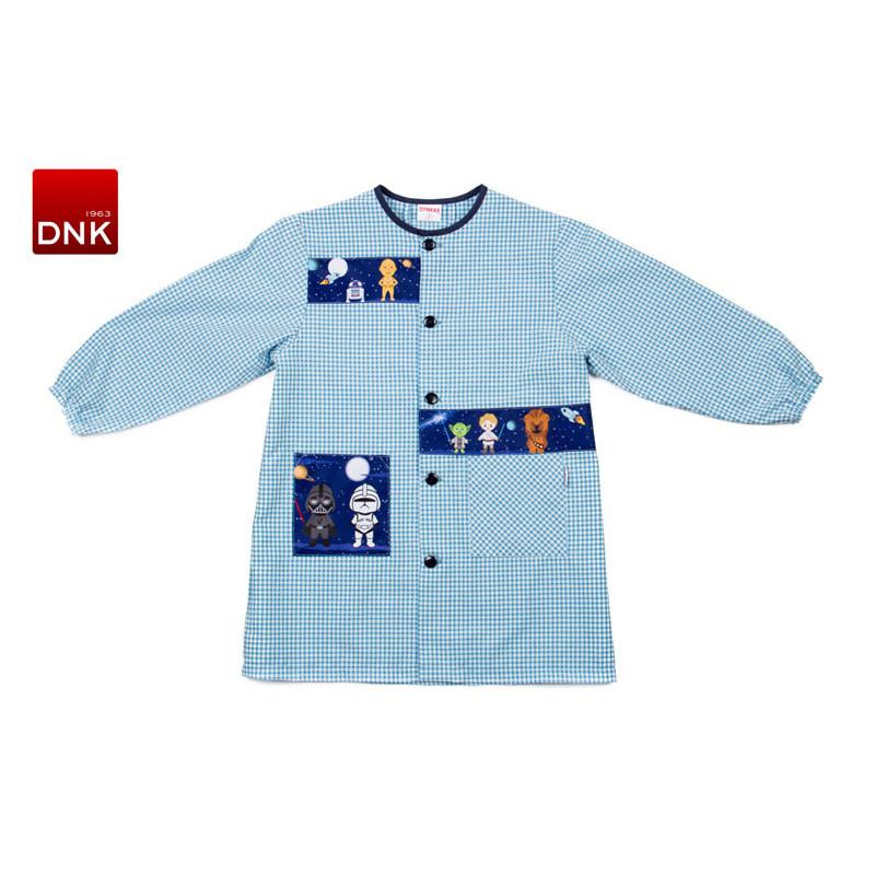 Bata escolar de niño azul...