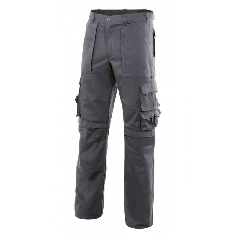 Pantalón gris con refuerzo...