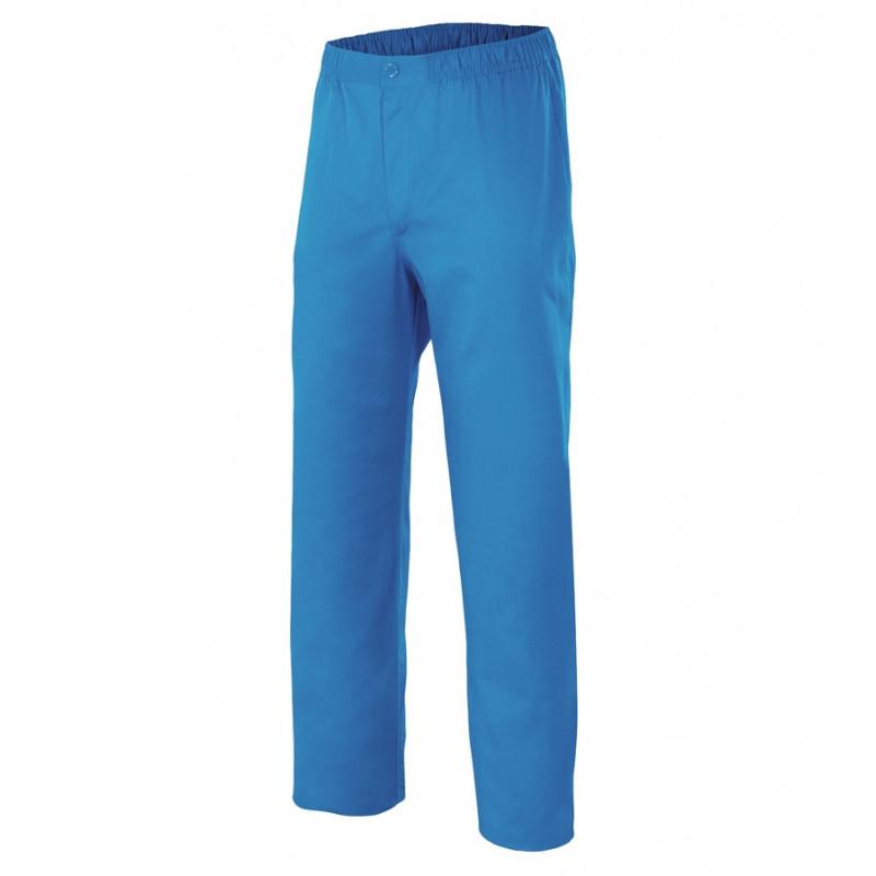 Pantalón pijama azul con...