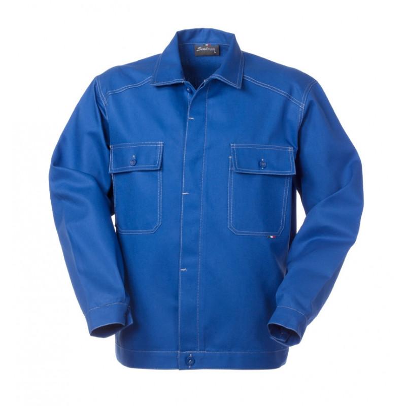 Chaqueta de trabajo azul...