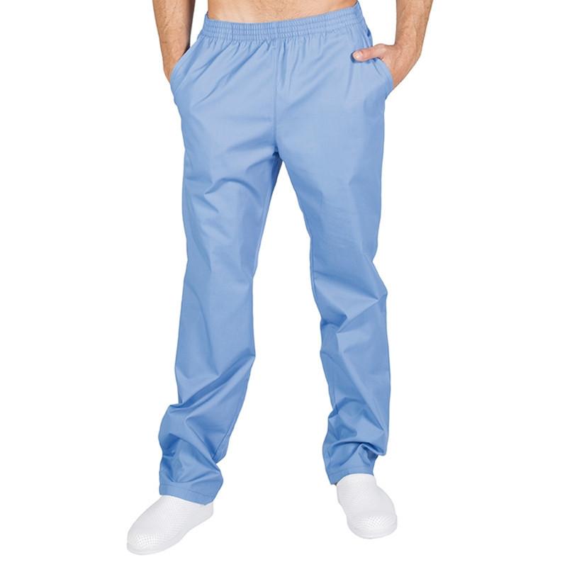 Pantalón pijama celeste con...