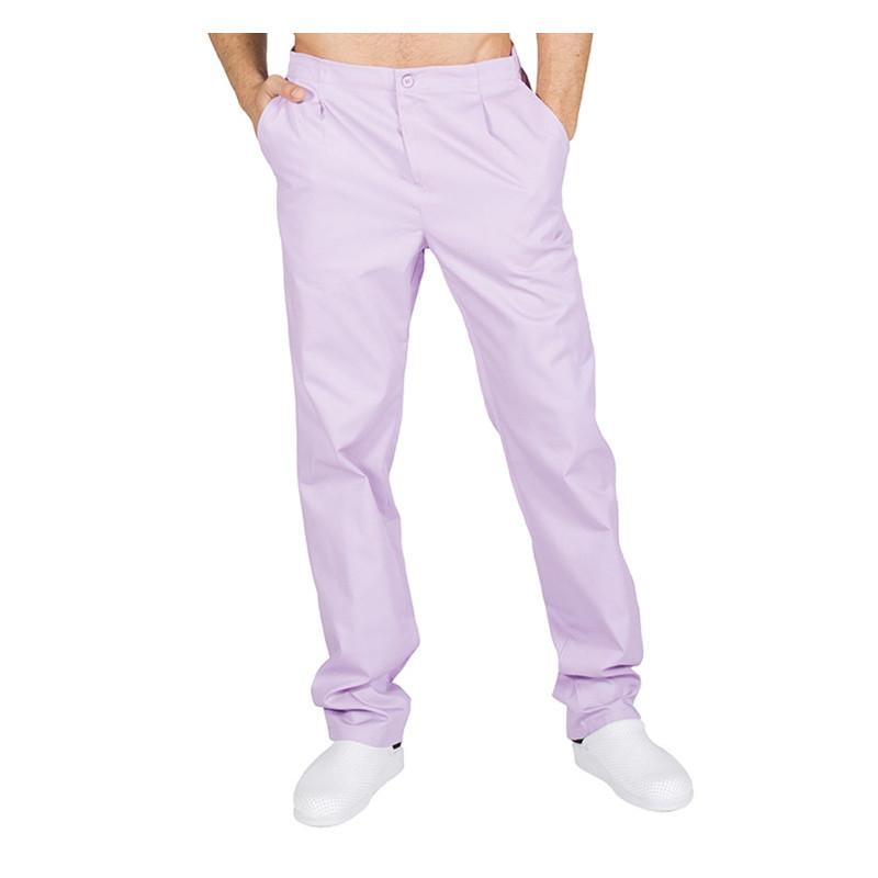 Pantalón laboral lila con...