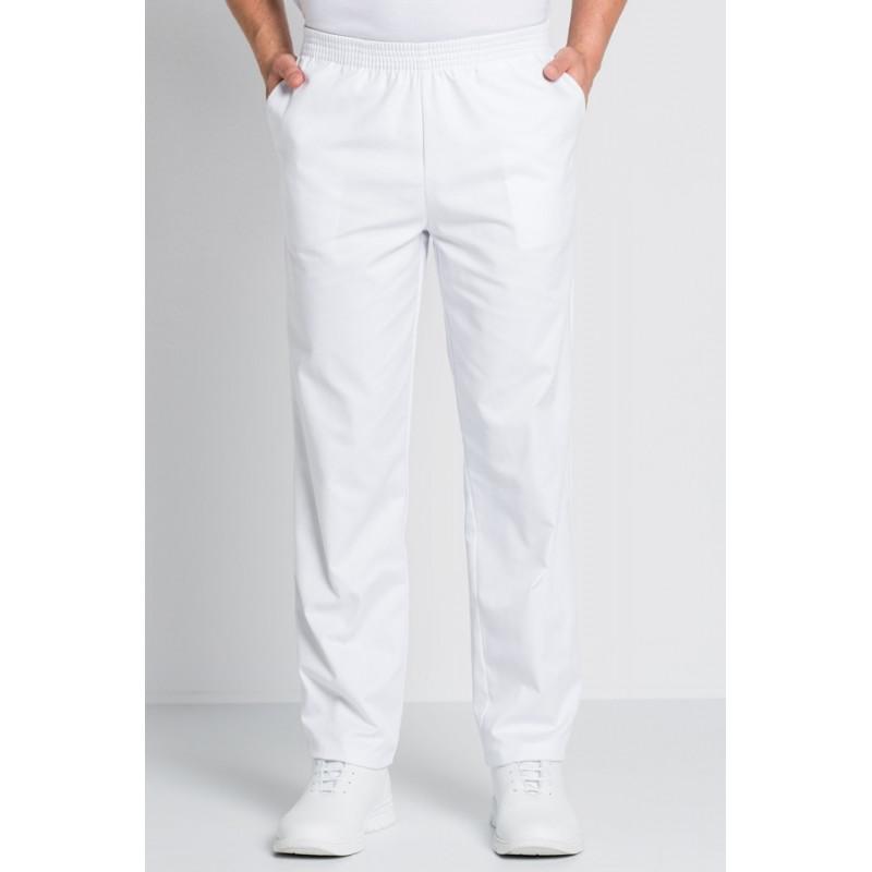 Pantalón laboral blanco con...