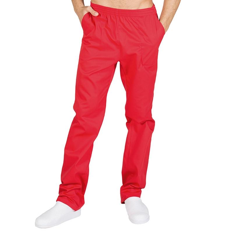Pantalón laboral rojo con...