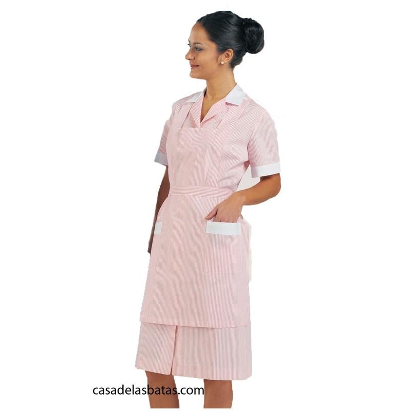 Conjunto servicio raya rosa...