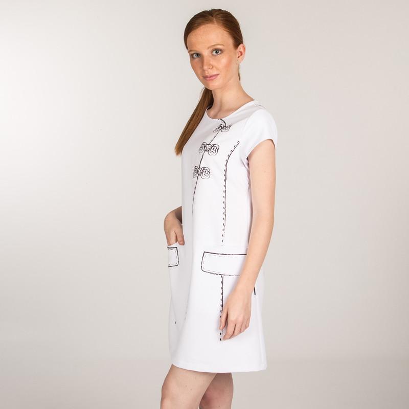 Vestido microfibra blanco...