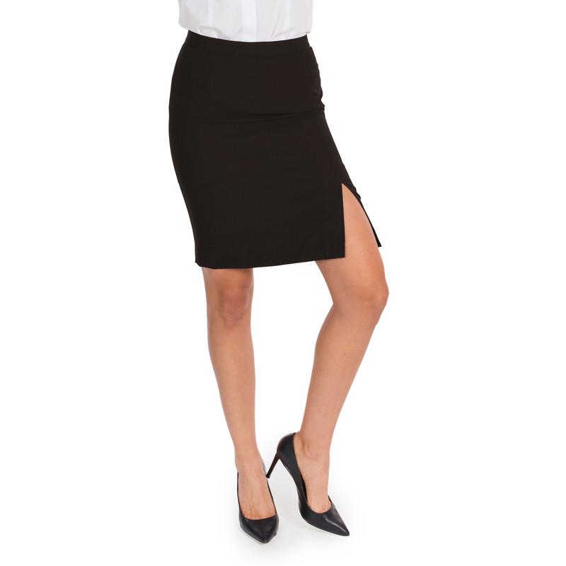 Falda sin bolsillos negra...