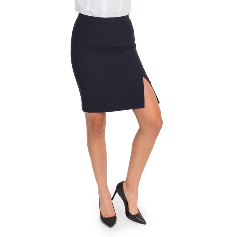 Falda sin bolsillos azul...