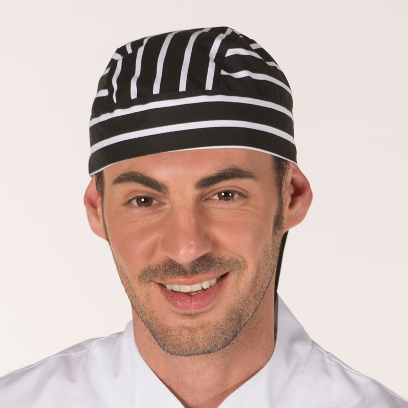 Gorro pirata cocinero raya...
