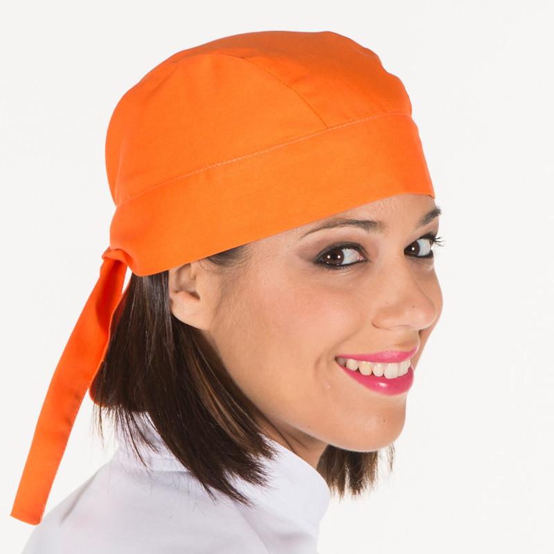 Gorro pirata cocina naranja...