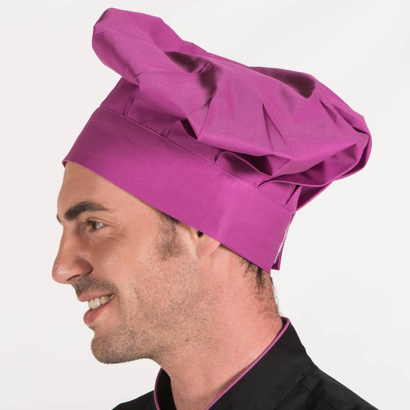 Gorro gran chef malva con...