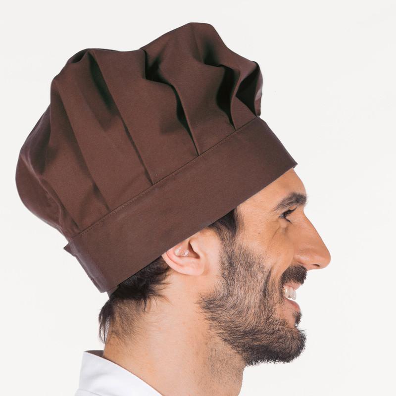 Gorro gran chef marrón con...