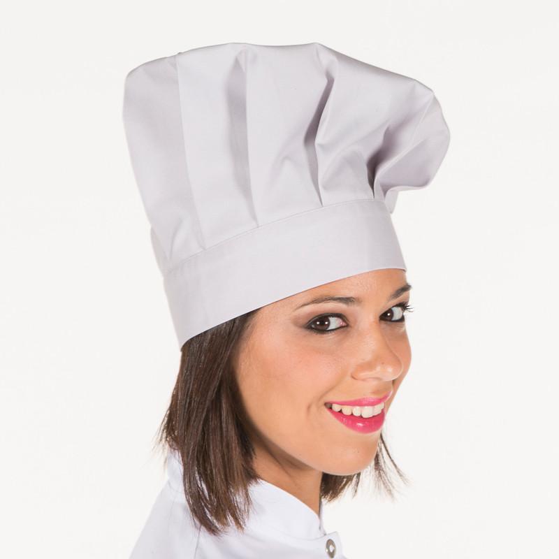Gorro gran chef gris perla...