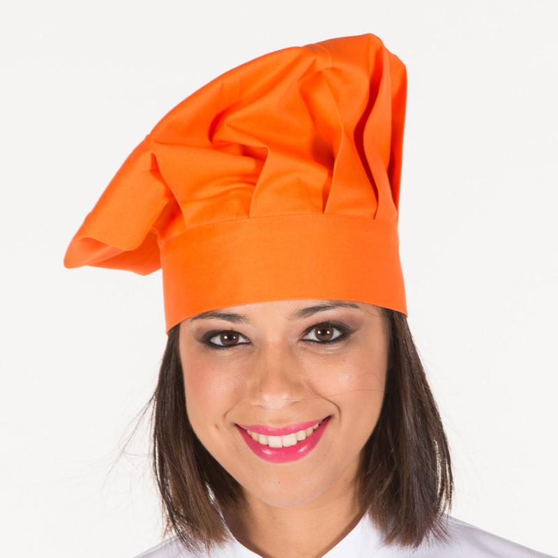 Gorro gran chef naranja con...