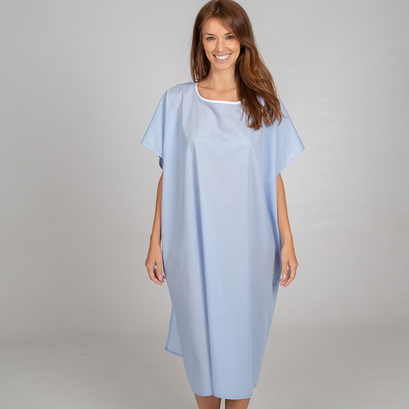 Blusón para paciente azul...