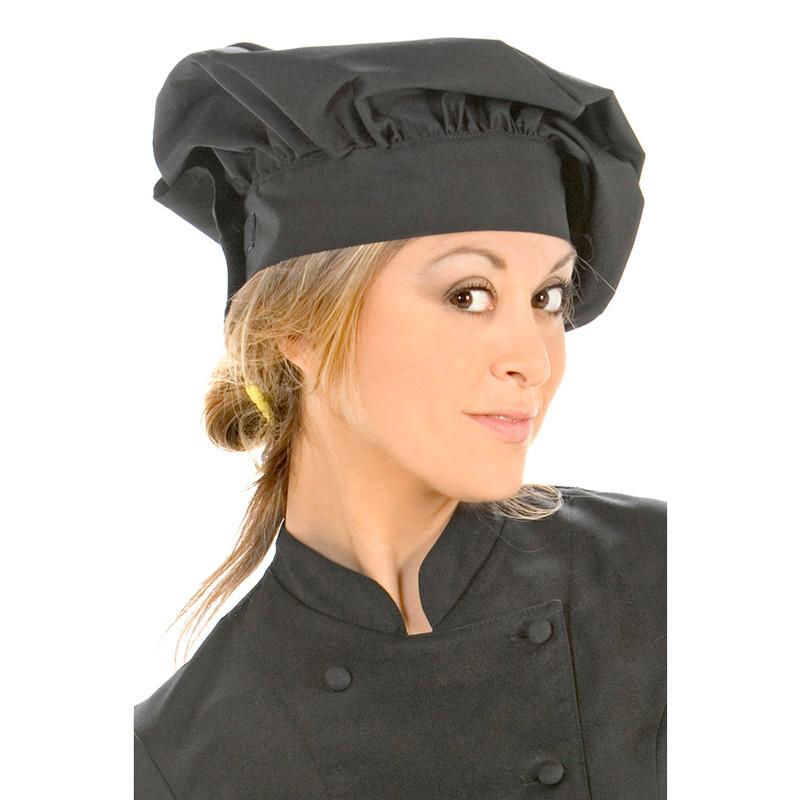 Gorro cocina unisex negro-...