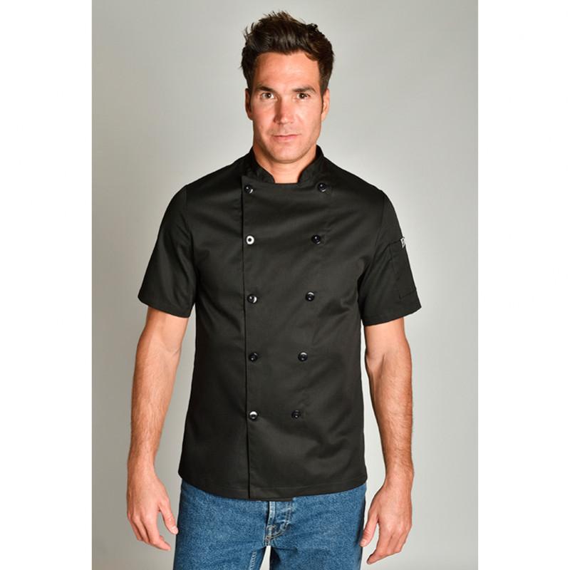 Chaqueta de cocinero negra...