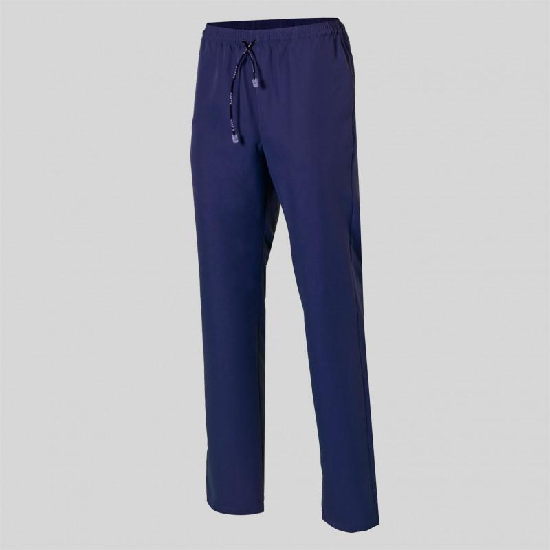 Pantalón de microfibra azul...