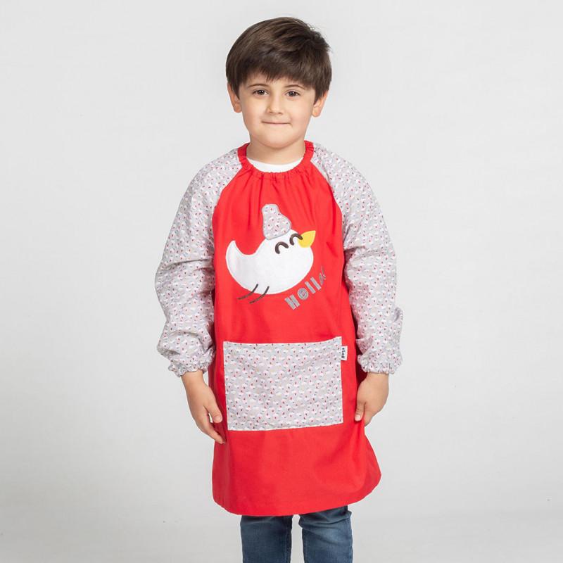 Babi escolar rojo polluelo...