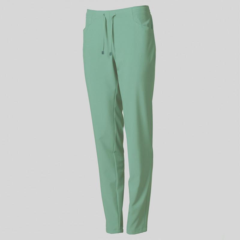 Pantalón verde agua de...