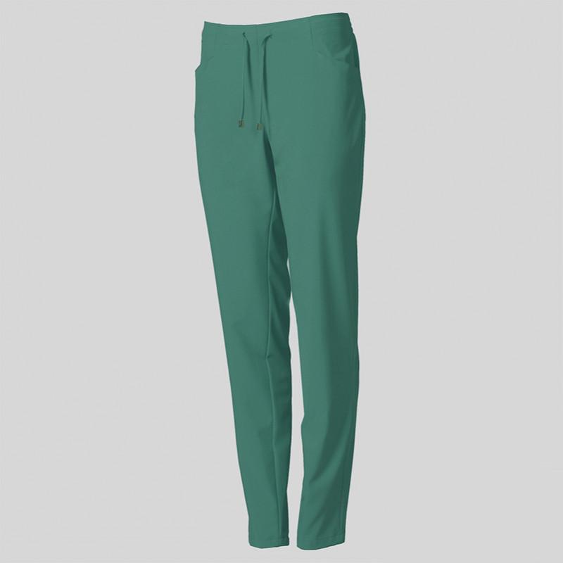 Pantalón laboral verde de...