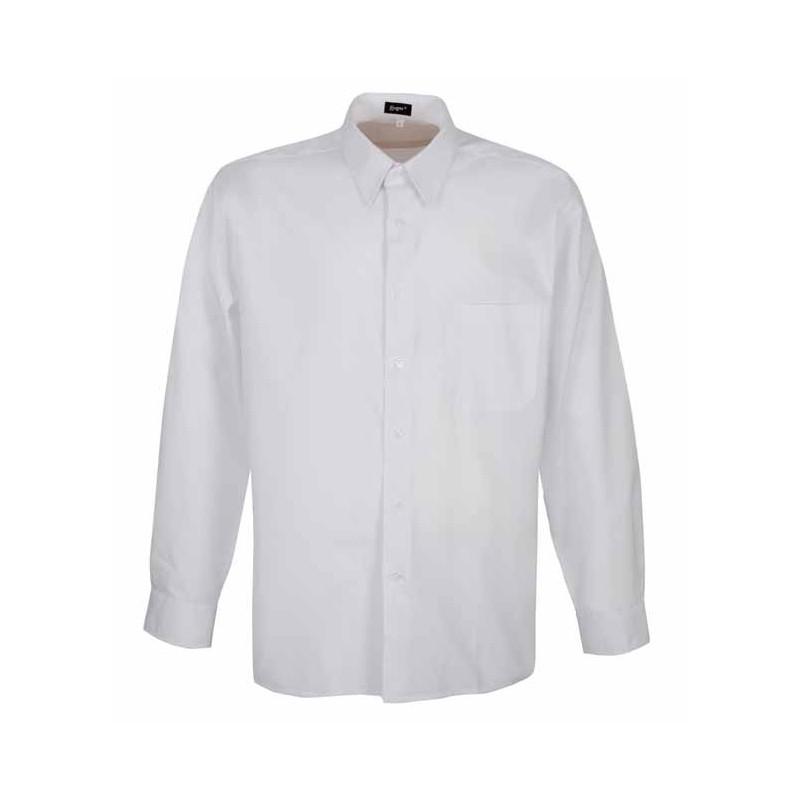 Camisa blanca manga larga-...