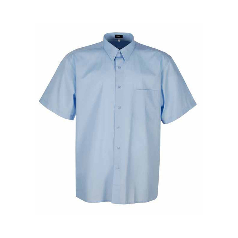 Camisa celeste manga corta-...
