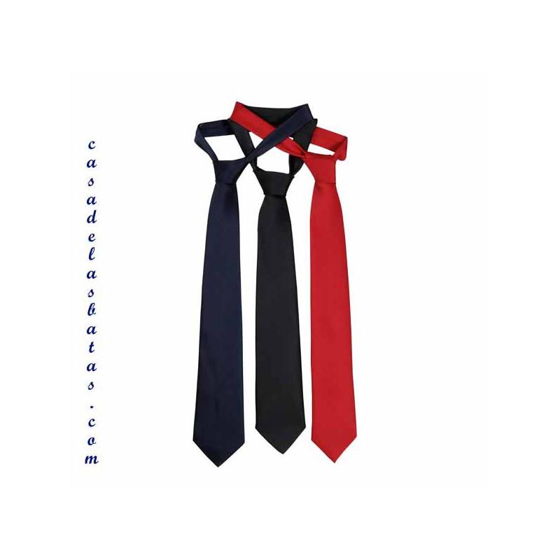 Corbata de color liso